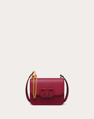 Valentino Small Vsling Grainy Calfskin Shoulder Bag Women Raspberry Pink 100% Pelle Di Vitello - Bos Taurus OneSize