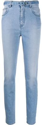 Just Cavalli High-Waisted Belted Skinny Jeans