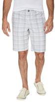 Original Penguin Cotton Plaid Print Shorts