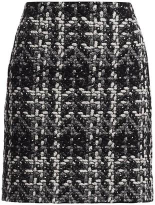 Akris Punto Sparkle Tweed Mini Pencil Skirt