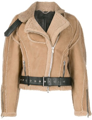 Peter Do Cropped Shearling Jacket