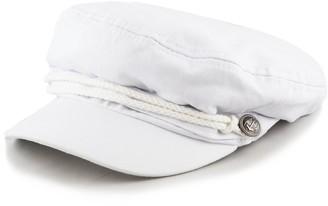 The Hat Depot BLACK HORN Unisex Cotton Greek Fisherman's Sailor Fiddler Hat Cap - White -