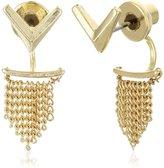 Sam Edelman V Fringe Front/Back Earrings