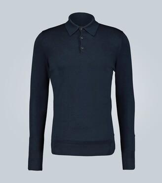 Sunspel Knitted merino wool polo shirt