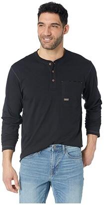Ariat Rebar Pocket Henley (Black) Men's Long Sleeve Pullover