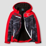 RBX Boys' Softshell Tech Jacket Camo Print - Black/Red