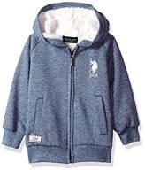 U.S. Polo Assn. Long Sleeve Zip up Fleece Hoodie