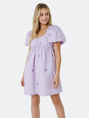 ENGLISH FACTORY Floral Embroidery Babydoll Dress