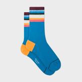 Paul Smith Women's Blue 'Artist Stripe' Socks