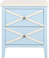 Safavieh Claudia Nightstand, Light Blue/White