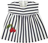 Dolce & Gabbana Cherry-Appliquéd Striped Dress & Bloomers Set