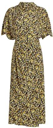 Stine Goya Rhode Floral Midi Dress