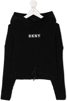 DKNY Logo Patch Hoodie