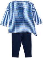 Ralph Lauren Striped Shirt & Jersey Leggings Set, Baby Girls (0-24 months)