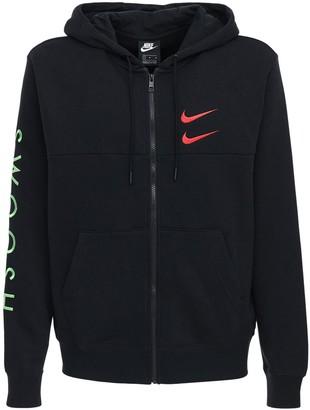 Nike Swoosh Cotton Blend Sweatshirt Hoodie