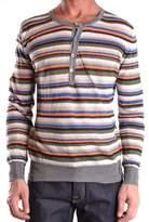 Mauro Grifoni Men's Multicolor Linen Sweater.