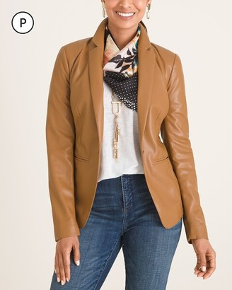 Chico's Petite Faux-Leather Blazer