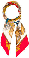 Hermes Automobile Silk Scarf