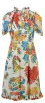 Gucci Corsage Print Cotton Dress