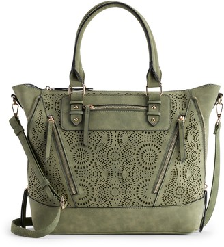 Violet Ray Charlie Perforated Satchel