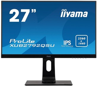 "Iiyama Prolite Xub2792Qsu-B1 27"" Ips, 2560X1440, Freesync, Ultra Slim Bezel, Black, Hdmi, Display Port, Usb Hub, Height Adjustable"