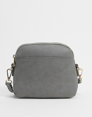 Truffle Collection Truffle curved cross body bag in grey