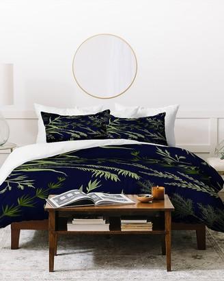 Express Deny Designs Margaux Floral Ferns Duvet Cover Set