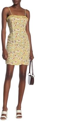 Luna Chix Ruffle Trim Floral Print Mini Dress