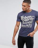 Solid T-Shirt With Graphic Print In Slim Fit