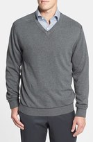 Cutter & Buck Men's 'Broadview' Cotton V-Neck Sweater
