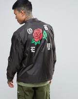 Obey Workwear Jacket With Spider Rose Back Print