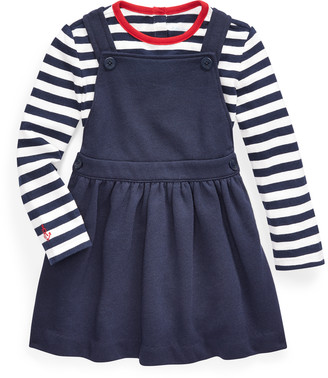 Ralph Lauren Tee & Overall Dress Set