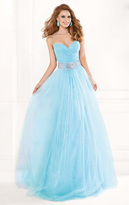 Tarik Ediz Ornate Ruched Gown 92336