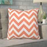 Mercury Row Bollin Chevron 100% Cotton Outdoor Throw Pillow
