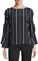 Collective Concepts Striped Cold-Shoulder Blouse