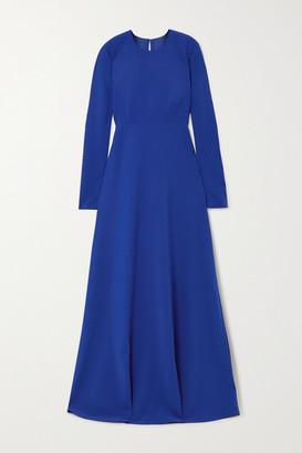 Carolina Herrera Open-back Stretch-crepe Gown - Blue