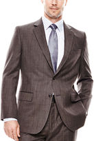 STAFFORD Stafford Travel Brown Check Suit Jacket - Classic Fit