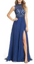Mac Duggal Women's Beaded Lace & Chiffon Gown