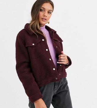 Brave Soul Petite teddy borg western jacket