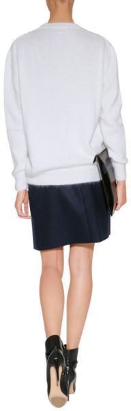 Vanessa Bruno Wool Skirt in Marine