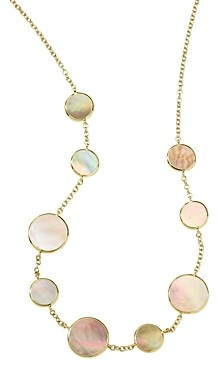 Ippolita 18K Yellow Gold Polished Rock Candy Brown Shell Station Necklace, 18