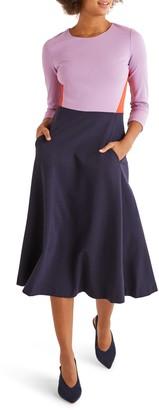 Boden Ivy Ponte Fit & Flare Dress