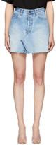 RE/DONE Blue Levi's Edition Denim High-Rise Miniskirt
