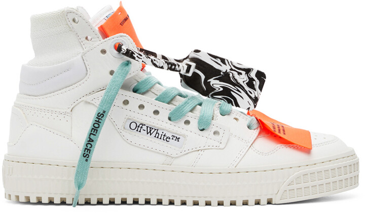 Off-White White & Purple Off Court 3.0 High-Top Sneakers