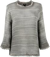 Avant Toi overdyed open weave sweater - women - Cotton - L