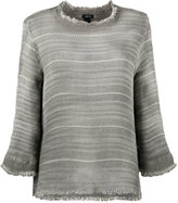 Avant Toi overdyed open weave sweater - women - Cotton - M