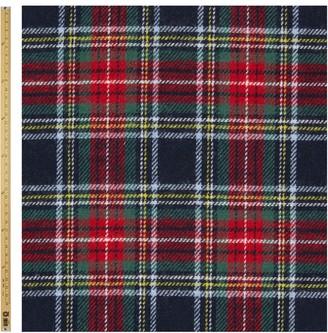 John Lewis & Partners Brushed Tartan Fabric, Red/Navy