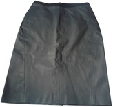 Hotel Particulier Grey Leather Skirt for Women