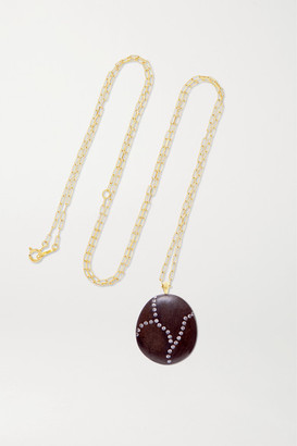 Cvc Stones Brooke 18-karat Gold, Stone And Diamond Necklace - one size