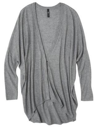labworks Petites Long-Sleeve Cardigan Sweater - Granite Gray